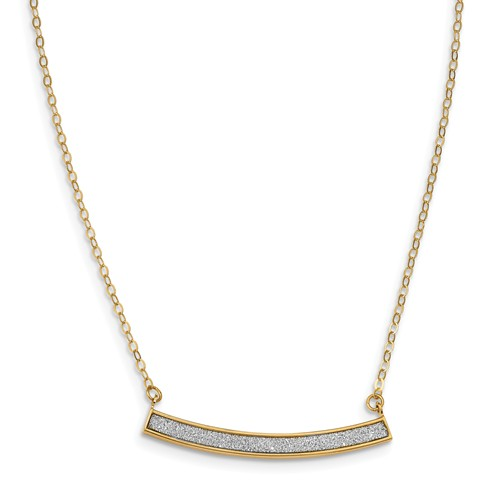 Gold Necklace by Leslie